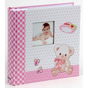 Foto album Fandy KD-462008B Twinkle 10x15cm, 200 slika za umetanje, dječji, rozi