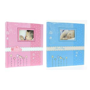 Foto album Gedeon DBCL30 Bambini Klasik 29x32cm/60 stranica za lijepiti plavi/rozi