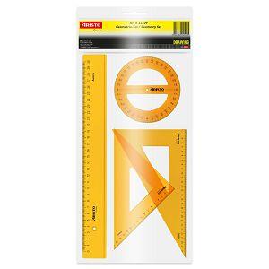 Geometrijski set Aristo 22509 2xtrokut/ravnalo 30cm/kutomjer 360