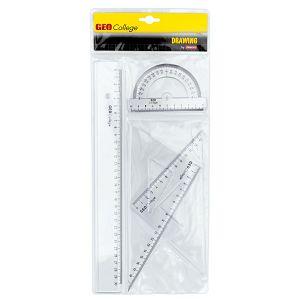 Geometrijski set Aristo 23509 2xtrokut/ravnalo 30cm/kutomjer 360