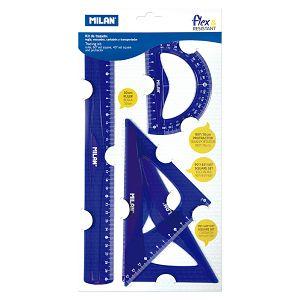 Geometrijski set veliki MILAN flex.resistant plavi bls