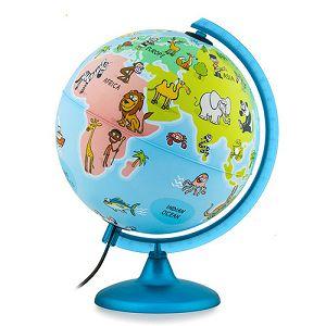 Globus 25cm Mappa&Mondo (svjetlo) sa posterom za bojanje, u poklon kutiji