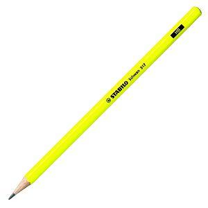 Grafitna olovka drvena Stabilo Schwan 317 neon žuta HB