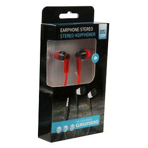 GRUNDIG Stereo Slušalice in-ear flat crvene