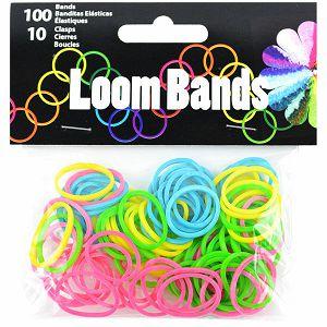 GUMICE LOOM BANDS za pletenje, mix boje+10 spojnica