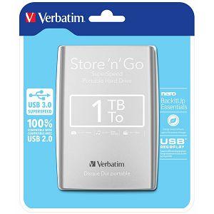 """HARD DISK HDD Externi Verbatim 1TB 2.5"""" USB 3.0 black/silver"""