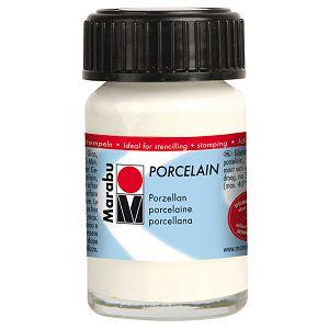Hobby boja za porculan i keramiku 15ml Marabu bijela 070