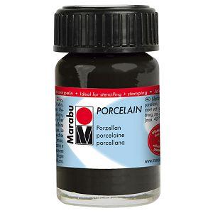 Hobby boja za porculan i keramiku 15ml Marabu crna 073