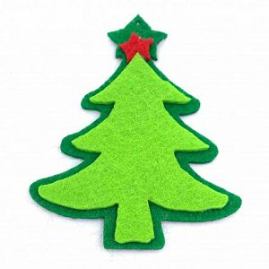 HOBBY dekorativni oblik filc Božićno drvce