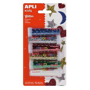 Hobby glitter šljokice 6/1, mix boje, Apli 13343-8