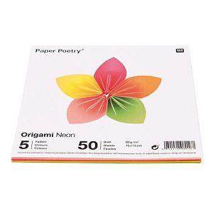 Hobby origami papir 15x15cm 80g 50L/5boja RicoDesign