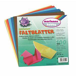 Hobby origami papir 20x20cm 70g/100L/10boja Marianne