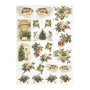 HOBBY Papir rižin za decoupage 21x29.7cm A4 1 komad Božićni motivi