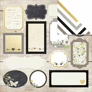 """Hobby papir scrapbooking 30,5x30,5cm """"Happily Ever After"""""""