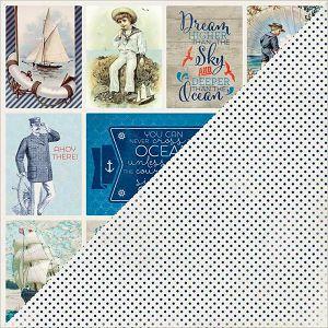 "Hobby papir scrapbooking 30,5x30,5cm ""Vintage razglednice"""