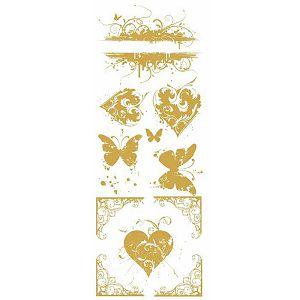 """Hobby papir transfer pozlata """"Leptiri i srca"""""""