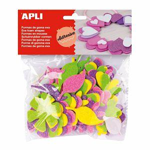 Hobby Stickers naljepnice glitter cvijeće spužvaste Apli 48/1 130789