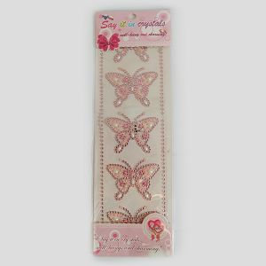 Hobby Stickers naljepnice kristali leptiri rozi 3632
