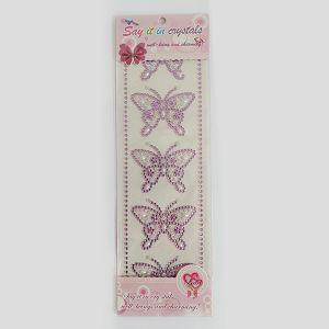 Hobby Stickers naljepnice kristali leptiri ljubičasti 3632