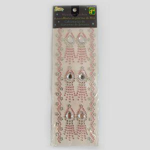 Hobby Stickers naljepnice kristali rozi/prozirni 3632