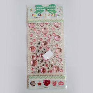 Hobby Stickers naljepnice kristali rozi i prozirni 4092