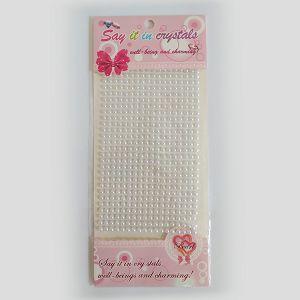 Hobby Stickers naljepnice perle bijele 4092