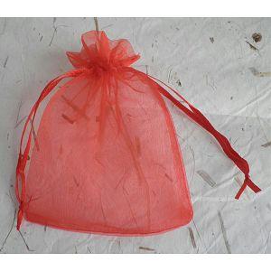 HOBBY vrećica organdi 10x13cm crvena