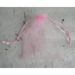 HOBBY vrećica organdi 10x13cm svijetlo roza