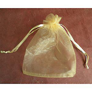 HOBBY vrećica organdi 10x13cm zlatna