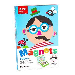 Igra magnetna kreativna Faces/Emotions 30 magneta Apli Kids