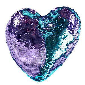Jastuk Srce sa šljokicama 37x37cm