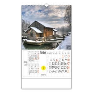 Kalendar Daleko od grada, s rotacijskim krugom, spirala