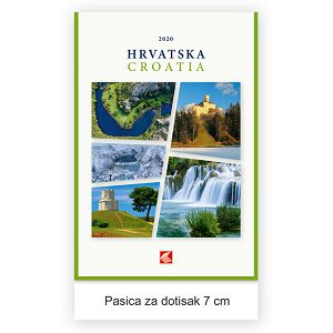 """Kalendar """"Hrvatska 2022"""" 13 listova, spirala"""
