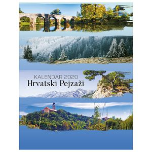 "Kalendar ""Hrvatski pejzaži 2022"" 13L, spirala"