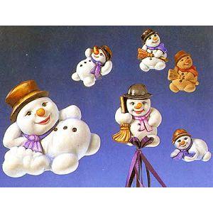 Kalup KeraFlot plastični snjegović božićni 2002-003
