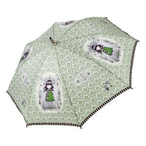 Kišobran automatik ženski s ručkom The Scarf Gorjuss 76-0018-10-4 zeleni