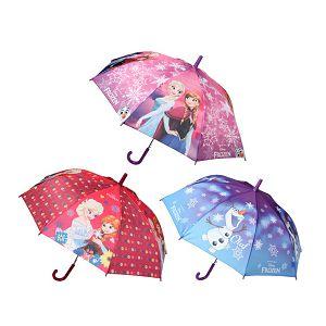 Kišobran dječji Premium aut. pvc drška 48cm DISNEY Frozen 3motiva