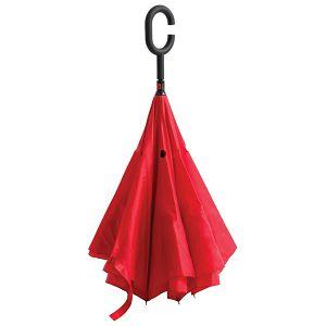Kišobran ručni obrnuto otvaranje crveni!!