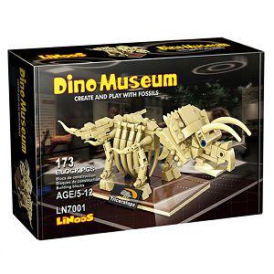 KOCKE LINoos Dinosaur Triceratops, kostur 173kom 070016