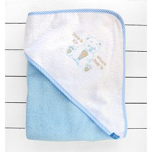 Koki ručnik s kapuljačom, vel. 90x90cm plavi