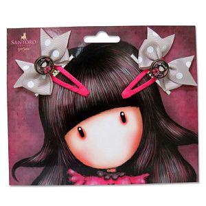 Kopča za kosu s mašnicom 2/1 Gorjuss pink/cream