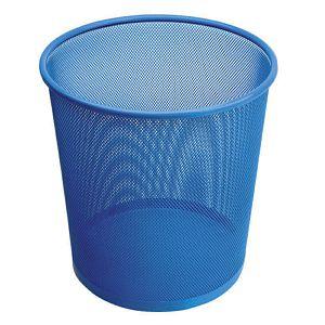 Koš za papir žičani okrugli 27x28cm JS 5002C plavi