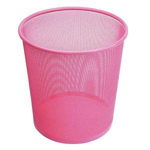 Koš za papir žičani okrugli 27x28cm JS 5002C rozi