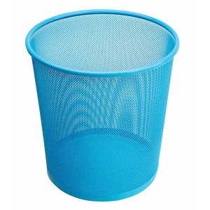 Koš za papir žičani okrugli 27x28cm JS 5002C svijetlo plavi