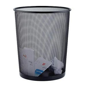 Koš za papir žičani okrugli 27x28cm JS 5002 crni
