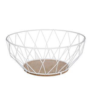 Košara za voće 28cm, metalna bijela Secret De Gourmet 986127