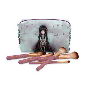 Kozmetički set GORJUSS 6/1 kozmetička torbica+5 make up kistova 181609