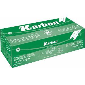 KREDA ŠKOLSKA bijela, četvrtasta KARBON 100/1
