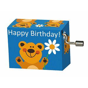 Kutija glazbena Bear with flower, melodija Happy Birthday Fridolin 584018