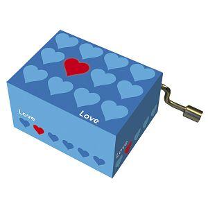 Kutija glazbena Blue hearts+red heart melodija: Happy Birthday Fridolin 584087